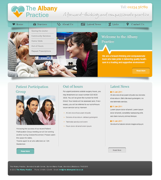 Website design for GP Practice in Brentford, Middlesex