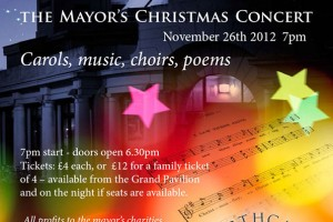 Poster Design for Carol Concert at the Grand Pavilion, Porthcawl