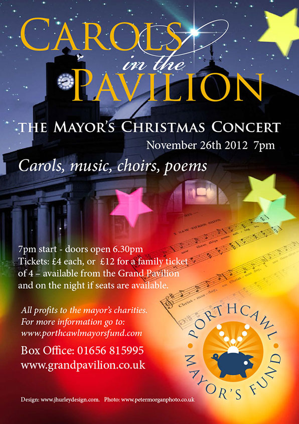 Poster Design for Carol Concert in the Grand Pavilion Porthcawl