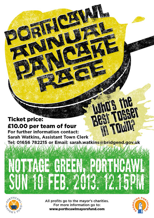 Poster Design for Annual Porthcawl Pancake Race