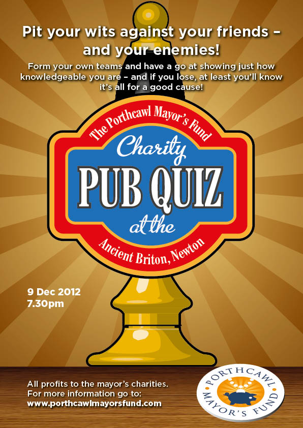 Poster Design for Pub Quiz at the Ancient Briton Pub, Porthcawl