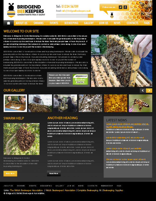 Website Design for Bridgend Beekeepers