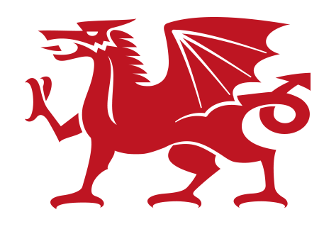 Simple Welsh Dragon Logo Free Vector