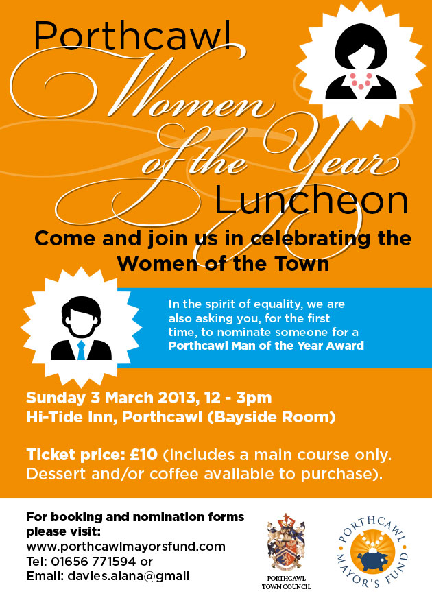 Porthcawl Women of the Year Poster Design