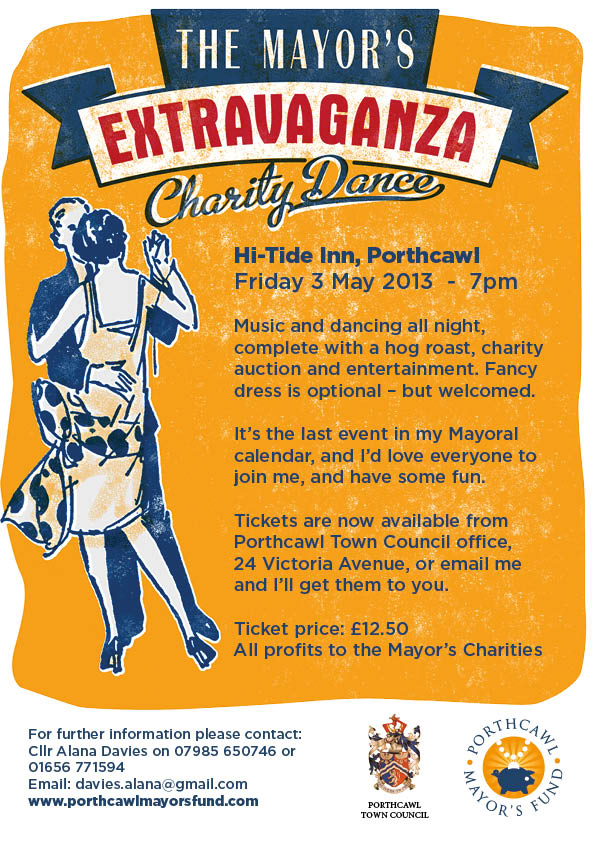 Porthcawl Mayor's Dance Poster