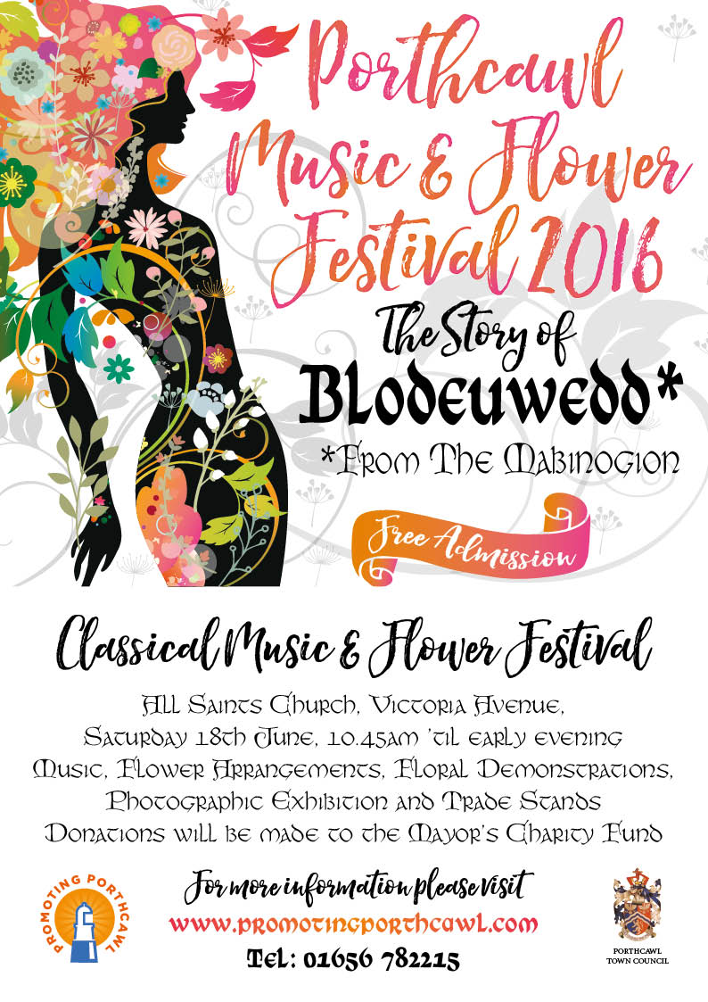 Music and Flower Festival Poster